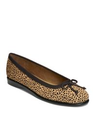 Aerosoles | Brown Fashionista Leather And Fabric Flats | Lyst