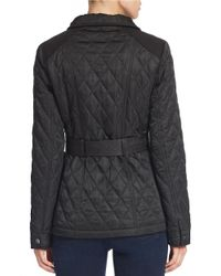 Vince Camuto - Black Belted Quilted Jacket - Lyst