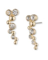 Lonna & Lilly | Metallic Rhinestone Crawler Earrings | Lyst