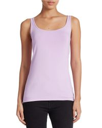 Lord & Taylor | Blue Plus Stretch Roundneck Tank | Lyst