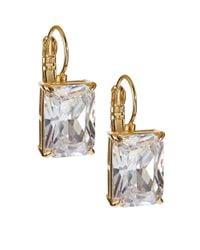 kate spade new york | Metallic Draped Jewels Emerald Cut Drop Earrings | Lyst