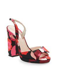 kate spade new york | Red Briana Floral Platform Sandals Jessa Leather Pumps | Lyst