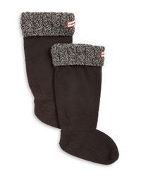HUNTER | Gray Cable-knit Cuff Welly Socks | Lyst