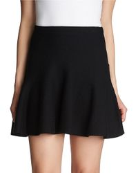 1.STATE | Black Flounce Cotton Mini Skirt | Lyst