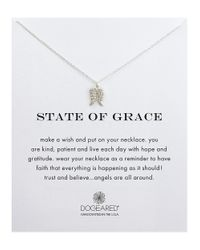 Dogeared | Metallic Reminders State Of Grace Stering Silver Pendant Necklace | Lyst
