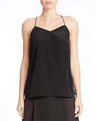Kensie | Black Solid Racerback Top | Lyst