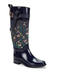 Ted Baker - Blue Hampto Knee-high Rubber Boots - Lyst