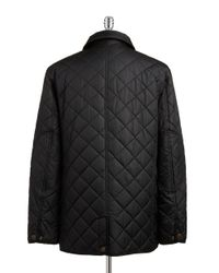 Hart Schaffner Marx - Black Quilted Jacket for Men - Lyst