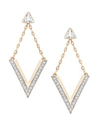 Swarovski - Metallic Delta Crystal Stud And Drop Earrings Set - Lyst