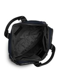 Michael Kors - Blue Large Leather-trim Nylon Briefcase for Men - Lyst