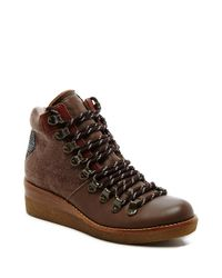 Dolce Vita | Multicolor Sirena Leather Wedge Boots | Lyst