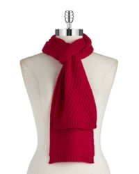 Lord & Taylor | Multicolor Cashmere Knit Scarf | Lyst
