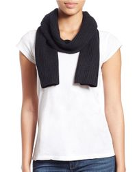 Lord & Taylor | Black Knit Cashmere Scarf | Lyst