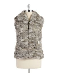 Surell | Gray Rabbit Fur Vest | Lyst