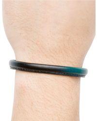 Hook + Albert | Black Leather Bangle Bracelet for Men | Lyst