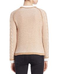 Lord & Taylor - Natural Raglan-sleeve Jacquard Sweater - Lyst