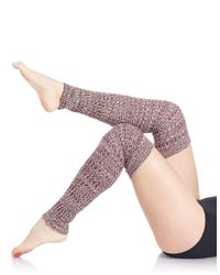 Free People | Purple Knit Legwarmers | Lyst