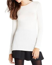 BCBGeneration | White Seamed-back Jersey Top | Lyst