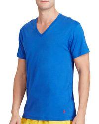 Polo Ralph Lauren   Blue Cotton-modal V-neck Sleep Shirt for Men   Lyst