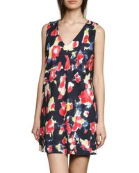 French Connection - Blue Bella Lula Graphic Minidress - Lyst