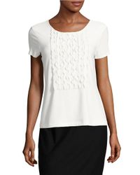Tommy Hilfiger | White Girls Ruffled Short Sleeve Top | Lyst