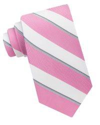Calvin Klein   Pink Cabana Stripe Tie for Men   Lyst