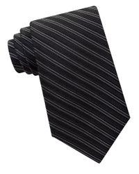 MICHAEL Michael Kors | Black Striped Silk Tie for Men | Lyst