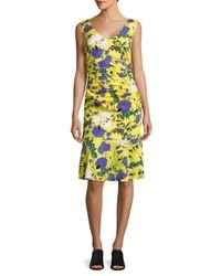 Tracy Reese | Yellow Animal-print Sleeveless Dress | Lyst