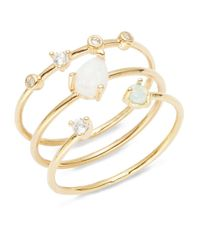Tai - Metallic Opal And Stone-accented Stackable Ring Set - Lyst