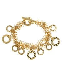 Anne Klein | Metallic Shaky Open Circle Bracelet | Lyst