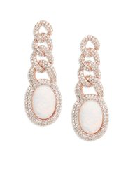 Nadri - Metallic Opal And Crystal Chainlink Drop Postback Earrings - Lyst