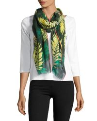 kate spade new york | Green Palm-print Scarf | Lyst