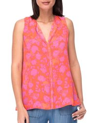 B Collection By Bobeau | Pink Sleeveless Pleat Blouse | Lyst