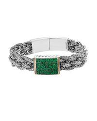 Effy | Metallic 925 Emerald Sterling Silver & 18k Yellow Gold Bracelet | Lyst