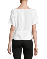 DKNY - White Tie Front Top - Lyst