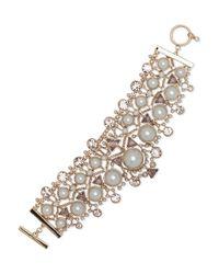 Givenchy | Metallic 2mm-14mm Faux Pearl Drama Flexible Bracelet | Lyst