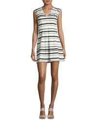 French Connection | White Joshua Allover Stripe Dress | Lyst