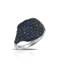 Marco Moore | Blue Sapphire And 14k White Gold Cocktail Ring | Lyst