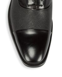 Kenneth Cole - Black Linear Leather Oxfords for Men - Lyst