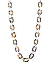Lauren by Ralph Lauren | Brown Tortoise Link Necklace | Lyst