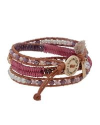Lonna & Lilly - Red 4mm Faux Pearl & Leather Bracelet - Lyst