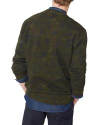 Mango - Green Camo Cotton Sweatshirt for Men - Lyst