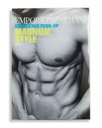 Emporio Armani - Black Contrast Trimmed Brief for Men - Lyst