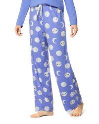 Hue - Blue Printed Pajama - Lyst