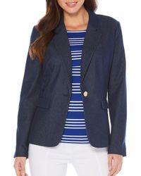 Rafaella - Blue Denim Style Blazer - Lyst