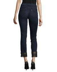 Ivanka Trump - Blue Slim-fit Laced Jeans - Lyst