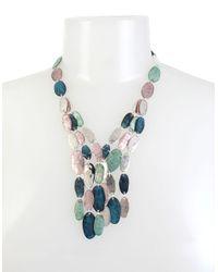 Robert Lee Morris - Blue Iridescencece Patina Frontal Multi-row Necklace - Lyst