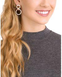 Swarovski - Metallic Crystal Hollow Chandelier Earrings - Lyst