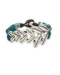 Uno De 50 - Metallic Espica Leather Strand Bracelet - Lyst