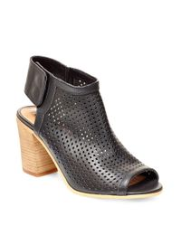 Steven by Steve Madden | Black Suzy Perforated Leather Booties | Lyst